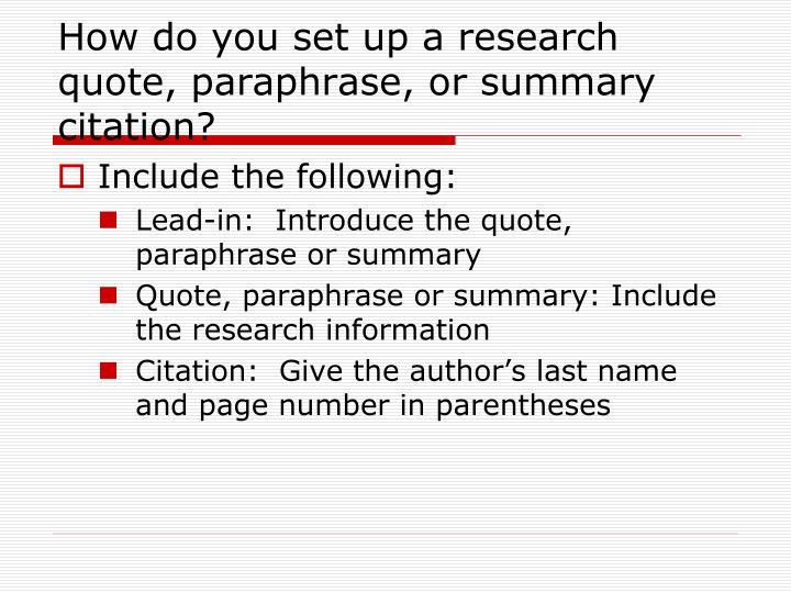 how do you cite a book in a research paper How to cite a research paper  there will definitely be a time when you find yourself in a position where you need to cite a research paper,  book review do.