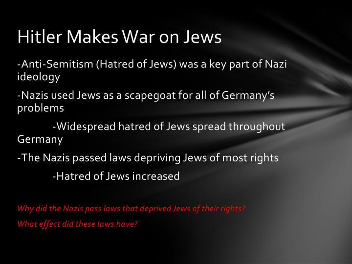 Hitler Makes War on Jews
