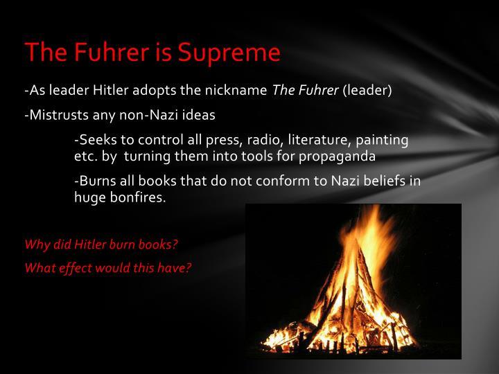 The Fuhrer is Supreme