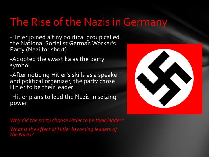 The Rise of the Nazis in Germany