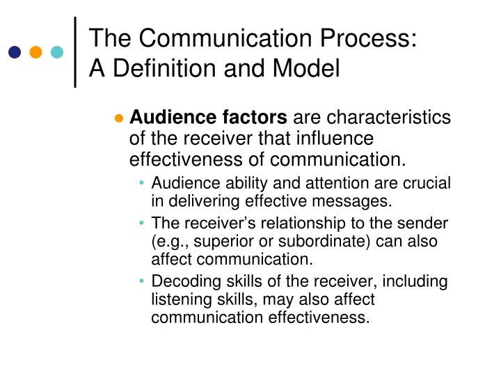 factors affect communication process Non verbal communication methods and factors that affect verbal communication and factors that affect them be interested in the process of communication.