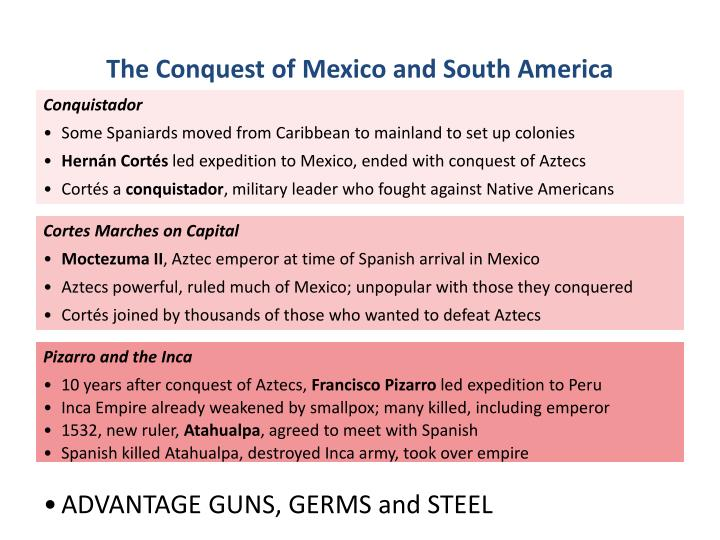 conquest of mexico and peru Timeline of the conquest conquest of mexico fransisco pizarro and and diego de almagro unsuccessfully attempted to find peru.