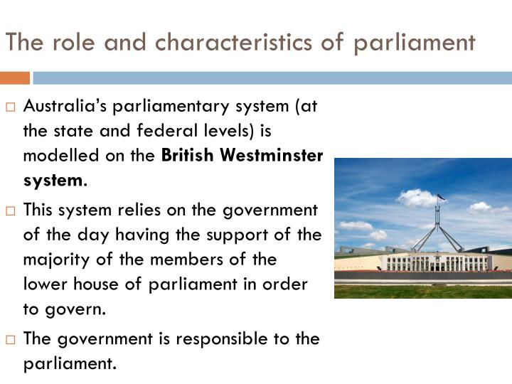 westminster system of government