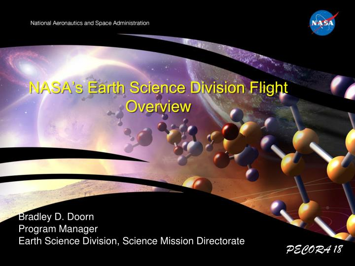 PPT - NASA's Earth Science Division Flight Overview ...