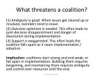 what threatens a coalition