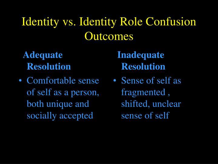 identity vs identity confusion