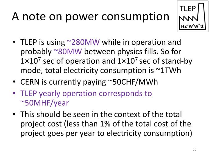 A note on power consumption
