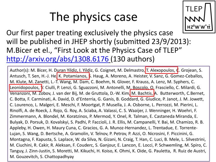 The physics case