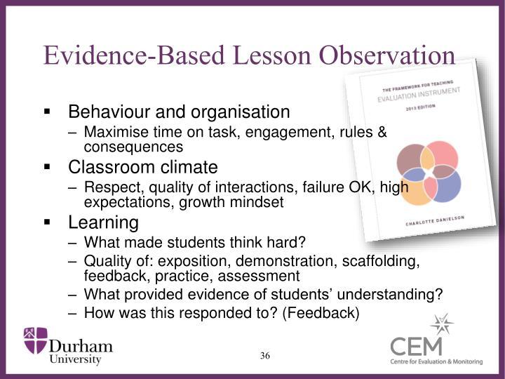 Evidence-Based Lesson Observation