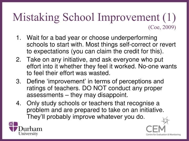 Mistaking School Improvement (1)