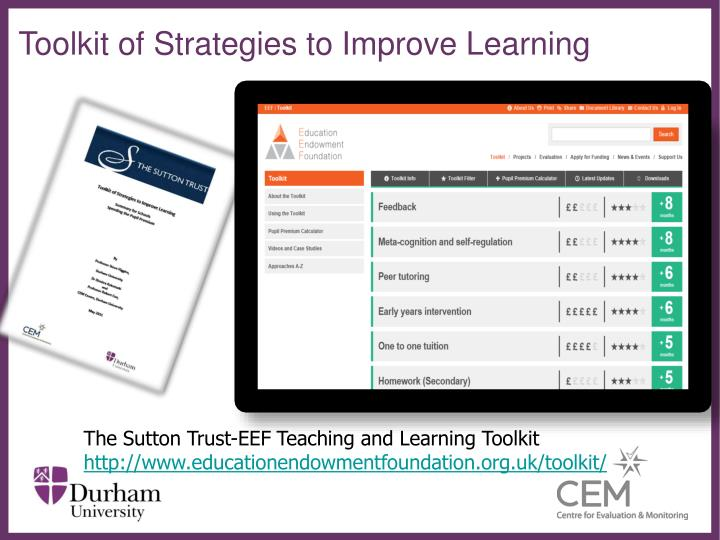 Toolkit of Strategies to