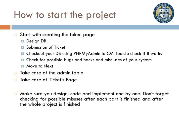 How to start the project