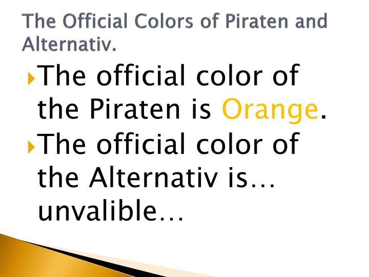 The Official Colors of Piraten and