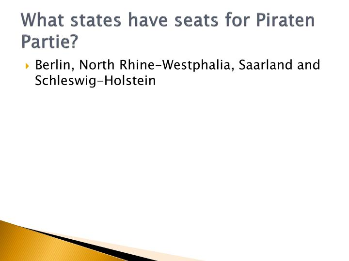What states have seats for