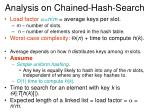 analysis on chained hash search