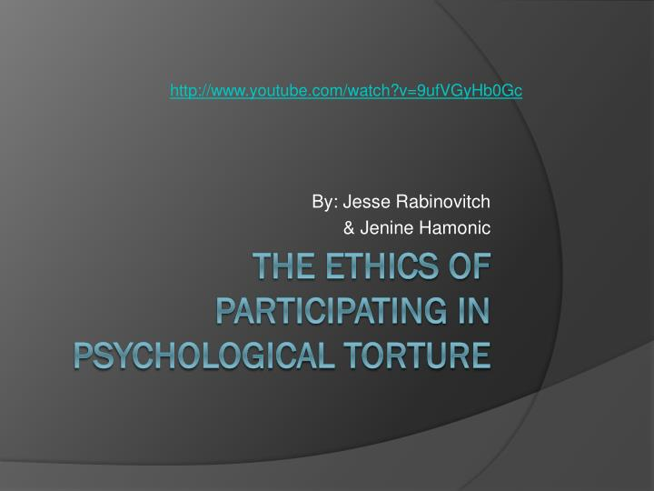 the ethics of torture Jean bethke elshtain is a professor of social and political ethics at the university of chicago divinity school and at georgetown the moral debate about torture.