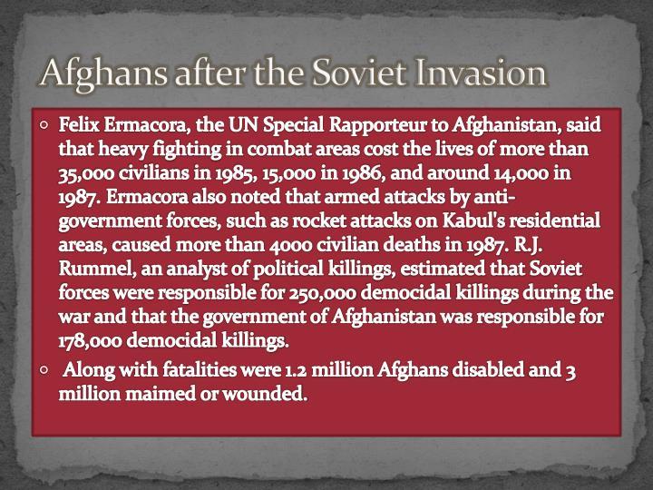 Afghans after the Soviet Invasion