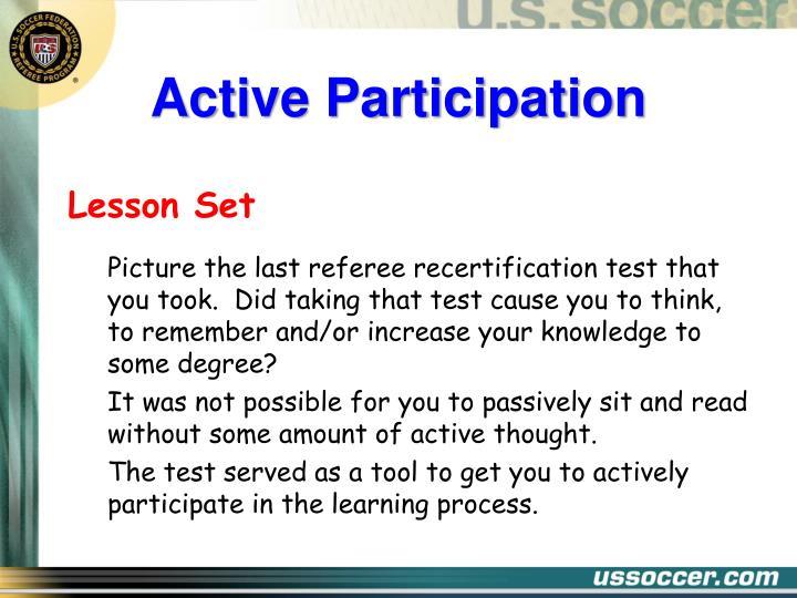Active participation1