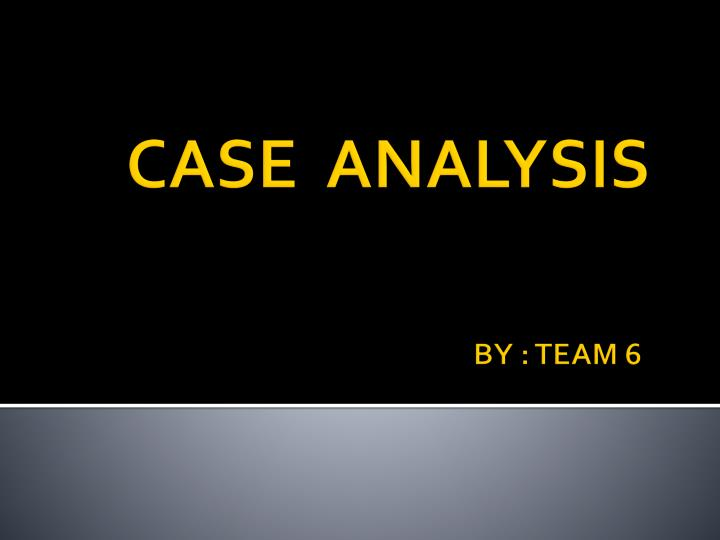 case analyses 6 Read this essay on ba 370 week 2 case analyses 2 come browse our large digital warehouse of free sample essays get the knowledge you need in order to pass your classes and more.