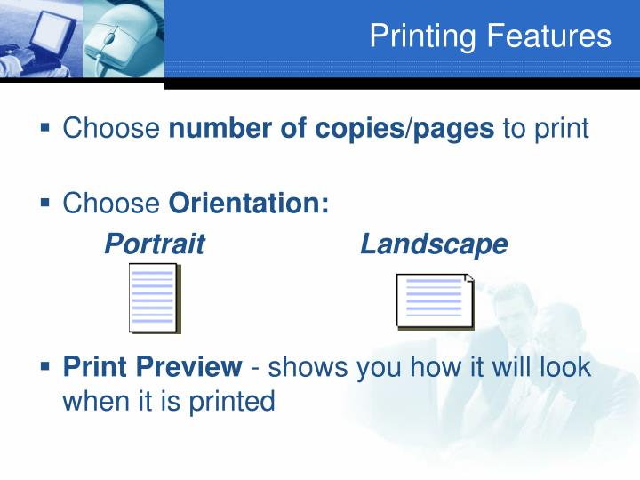 Printing Features