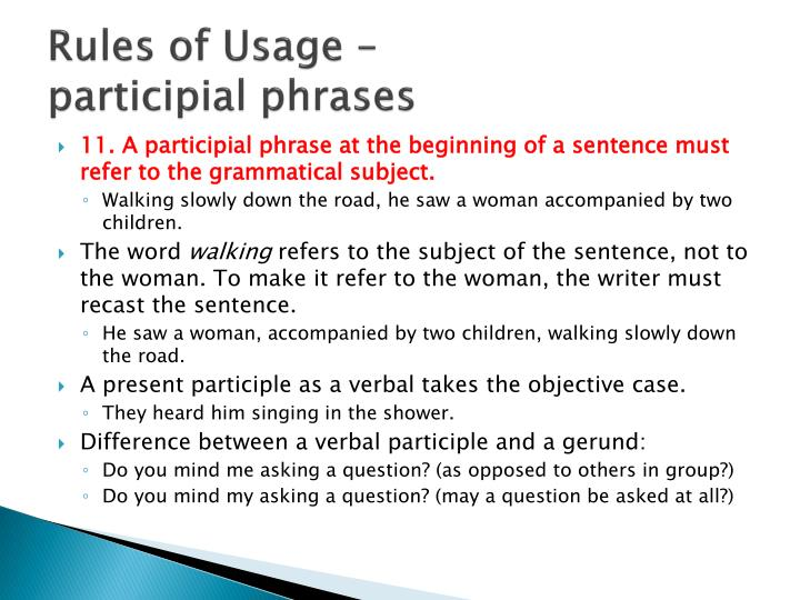 Rules of Usage –