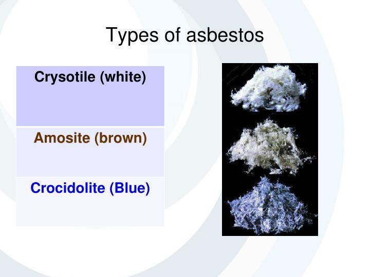 Types Of Asbestos : Ppt safety management solutions ltd nebosh general