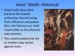 jesus death historical
