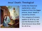 jesus death theological