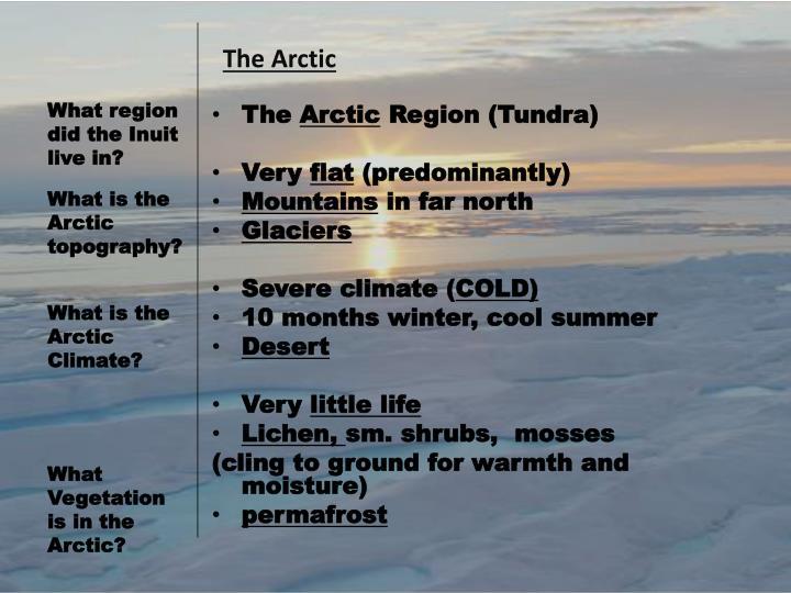 T he arctic