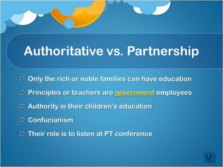 Authoritative vs. Partnership