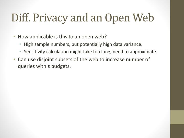 Diff. Privacy and an Open Web