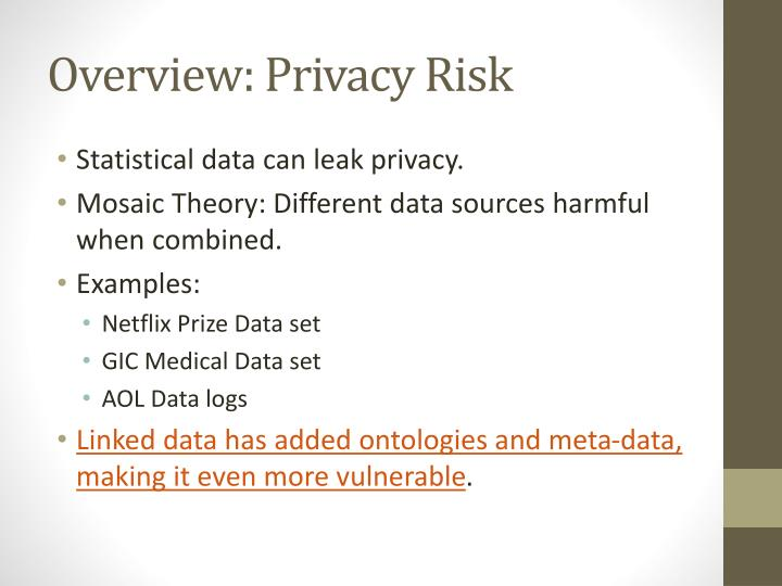 Overview: Privacy Risk