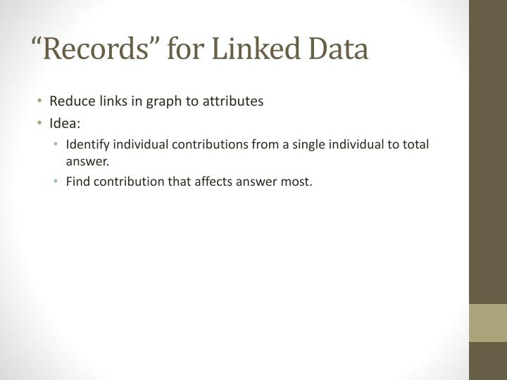 """""""Records"""" for Linked Data"""