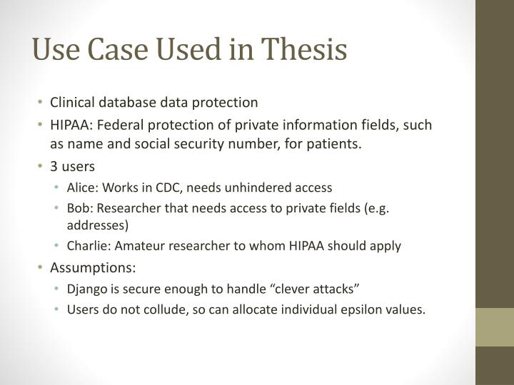 Use Case Used in Thesis