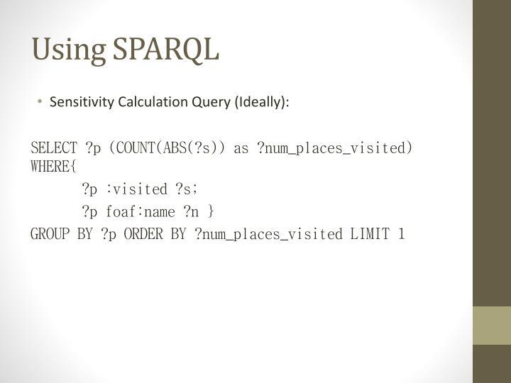 Using SPARQL