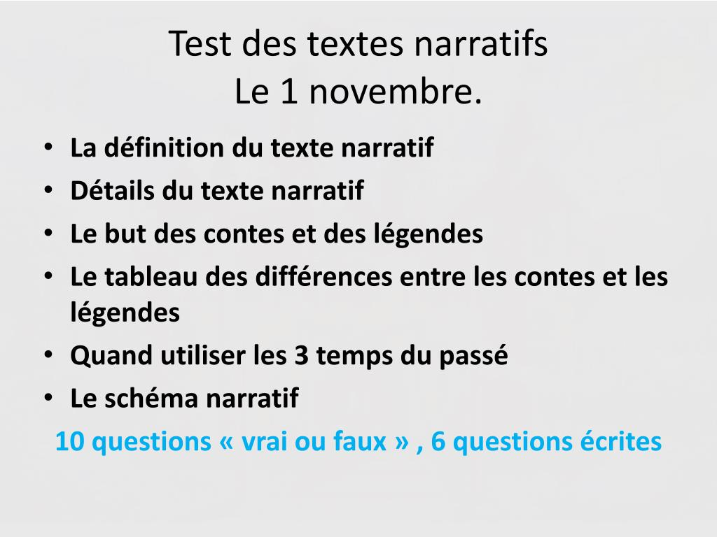 Ppt Le Texte Narratif Powerpoint Presentation Free