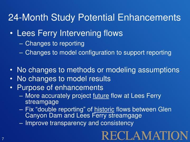 24-Month Study Potential Enhancements