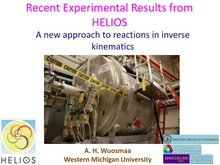 recent experimental results from helios n.