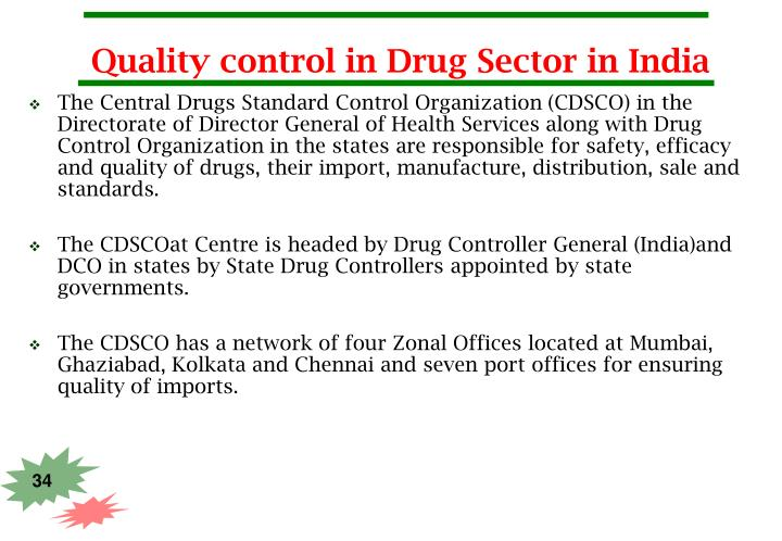 Quality control in Drug Sector in India