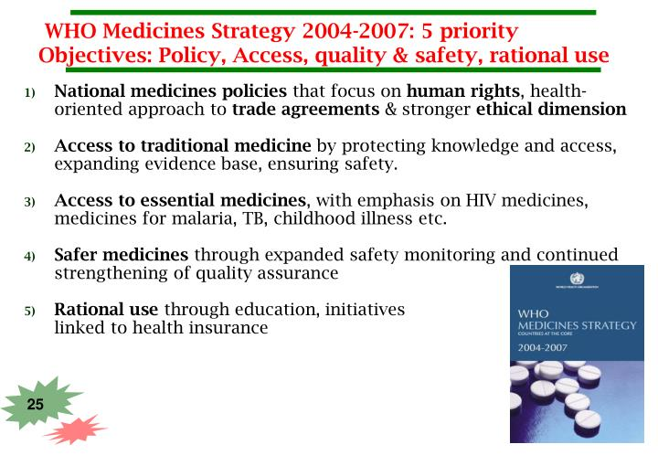 WHO Medicines Strategy 2004-2007: 5