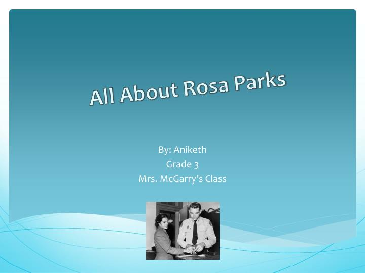all about rosa parks n.