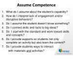 assume competence