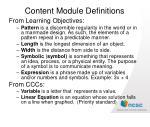 content module definitions