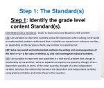 step 1 t he standard s