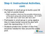 step 4 instructional activities cont