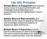 use udl principles