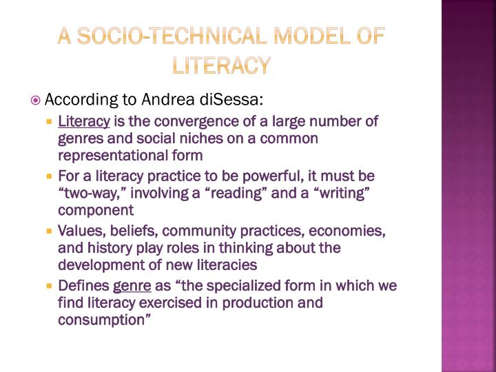 A socio technical model of literacy