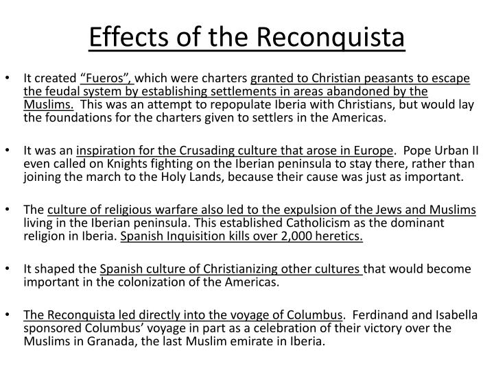 Effects of the Reconquista