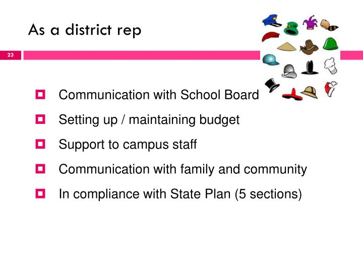 As a district rep