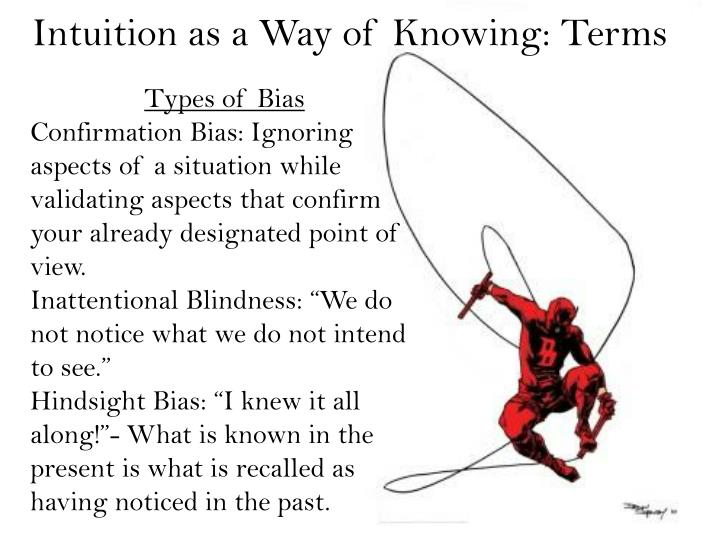intuition as a way of knowing essay On knowing: essays for the left hand, second edition [jerome bruner] on amazoncom free shipping on qualifying offers the left hand has traditionally represented the powers of intuition, feeling, and spontaneity in this classic book on knowing: essays for th.